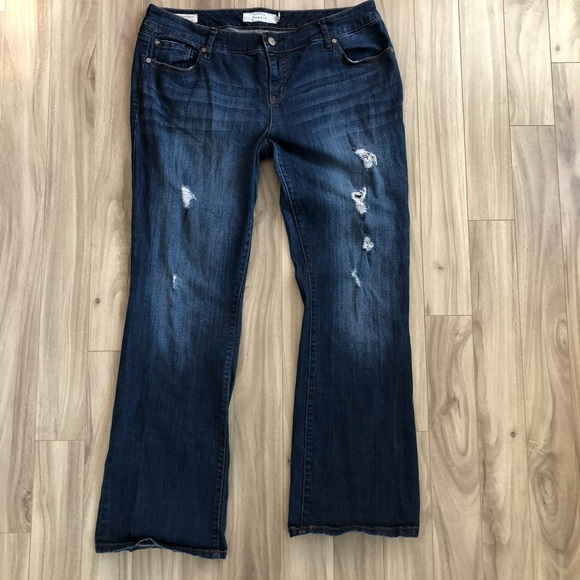 c49db3bdc4d Torrid Relaxed Boot Distressed Jeans size 16R